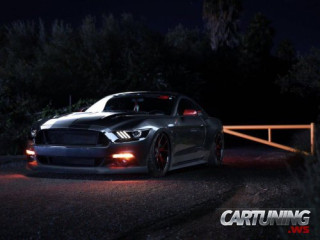 Stanced Ford Mustang GT 2015