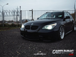 Stanced BMW 5 Touring E61