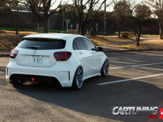 Stanced Mercedes-Benz A45 AMG W176