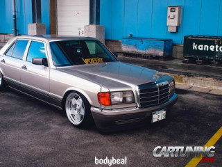 Lowered Mercedes-Benz S-Class W126