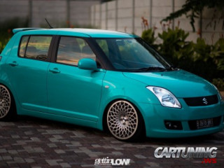 Stanced Suzuki Swift