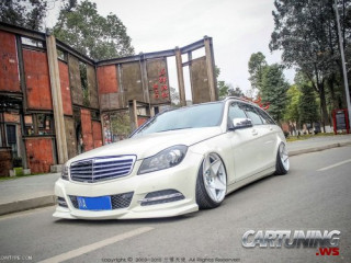 stanced mercedes benz c class s204. Black Bedroom Furniture Sets. Home Design Ideas