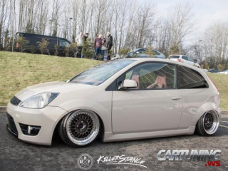 Stanced Ford Fiesta