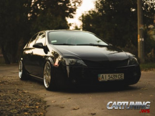 tuning nissan primera. low and stance. photos