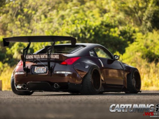 Stanced Nissan 350Z Widebody
