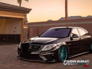 Stanced Mercedes-Benz S63 AMG W222