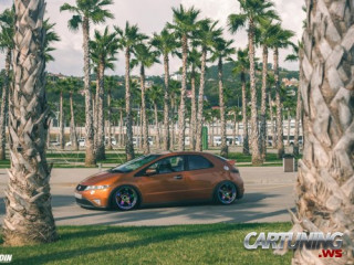 Stanced Honda Civic 5d 2010