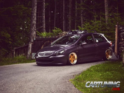 Low Peugeot 307 on air