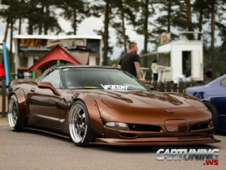 Low and wide Chevrolet Corvette