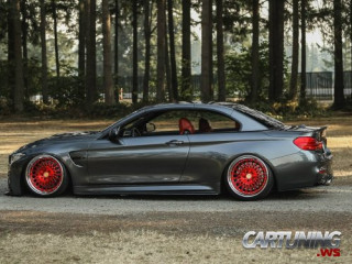 Stanced BMW M4 Convertible F83