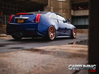 Stanced Cadillac CTS-V Coupe