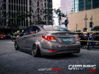 Stanced Hyundai Accent