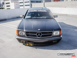 Mercedes-Benz 560SEC C126 on Air