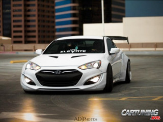 Lowered Hyundai Genesis Coupe
