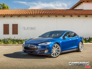 Lowered Tesla Model S