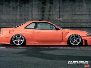 Nissan Skyline R34 Wide body Airlift