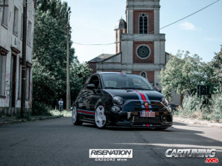 Lowered Fiat 500