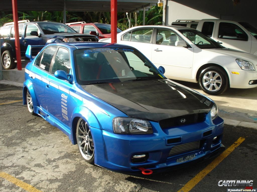 Tuning Hyundai Accent 187 Cartuning Best Car Tuning Photos From All The World