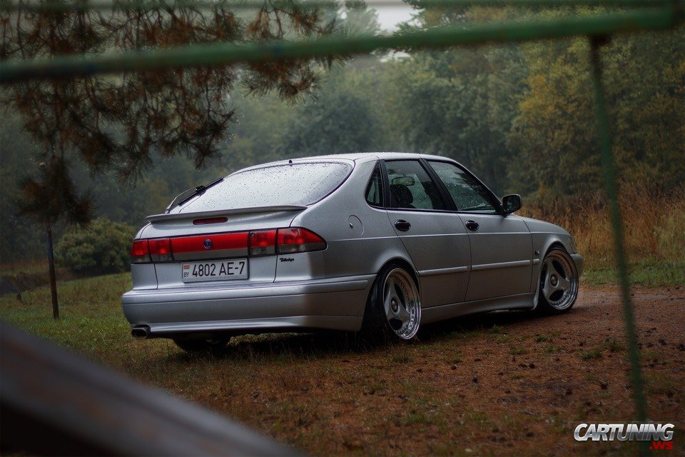 Stanced Saab 9 3 Rear