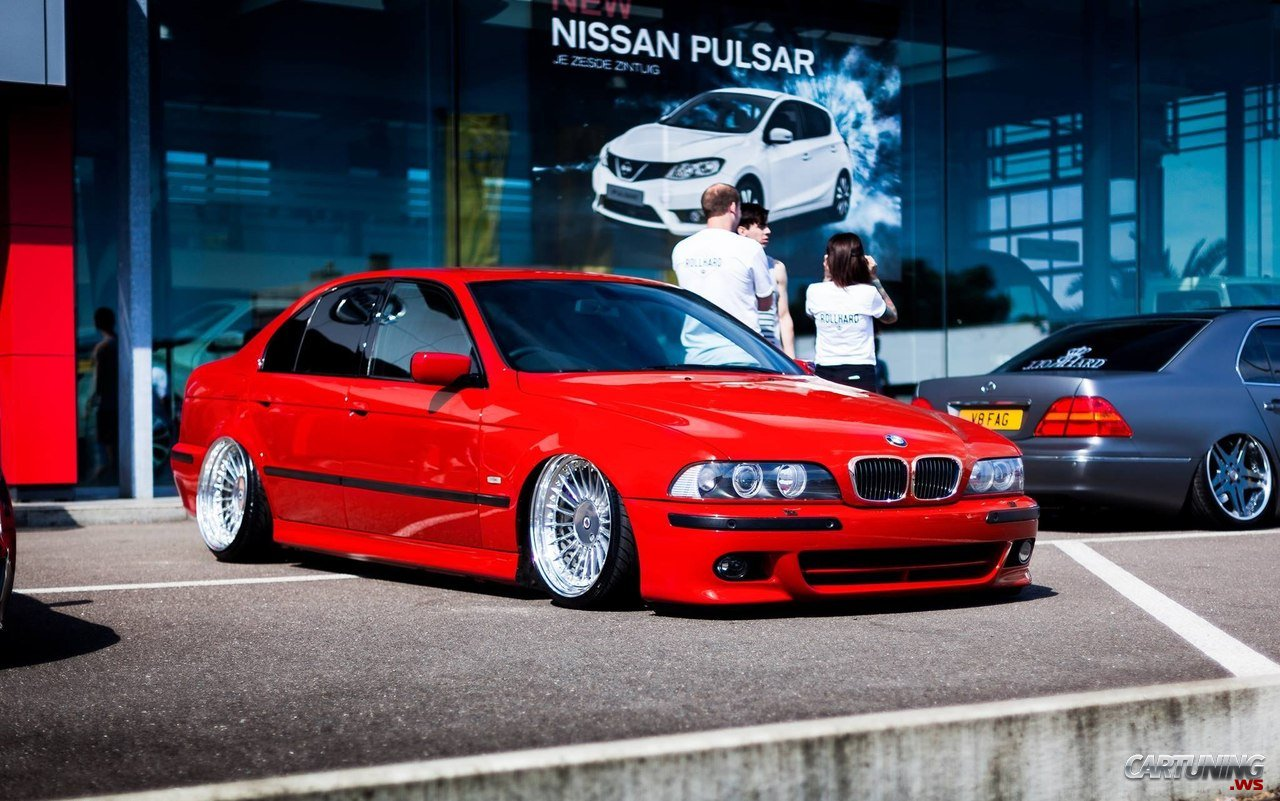 Red And Stanced Bmw 5 E39