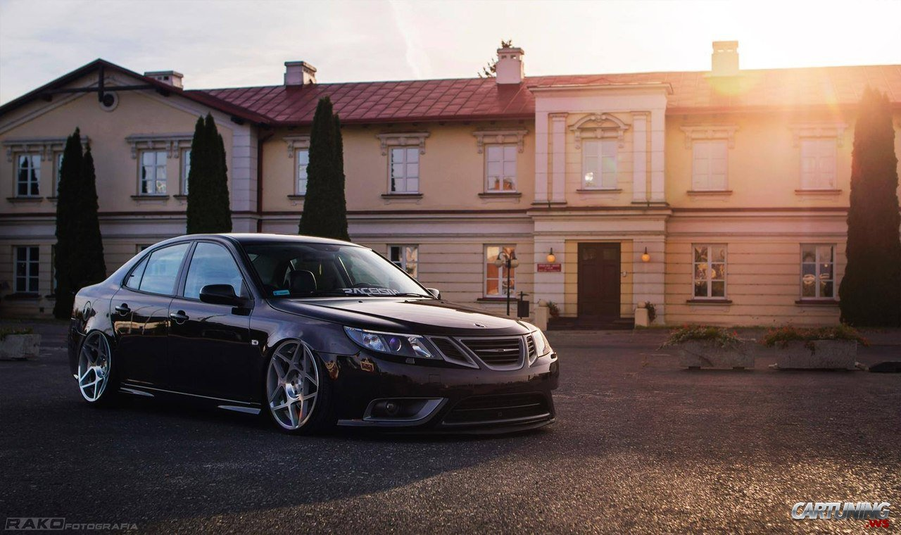 stanced saab 9 3 front. Black Bedroom Furniture Sets. Home Design Ideas