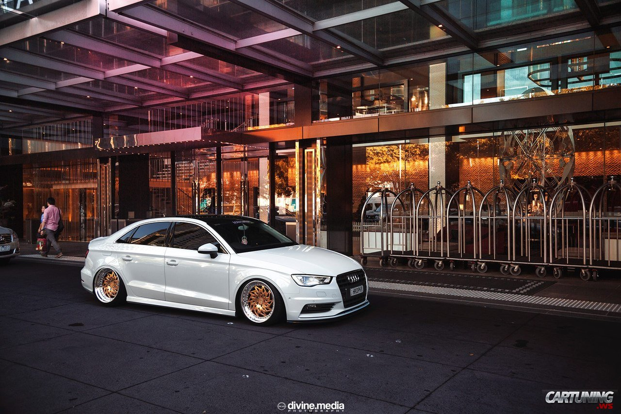 Stanced Audi A3 Sedan 187 Cartuning Best Car Tuning Photos
