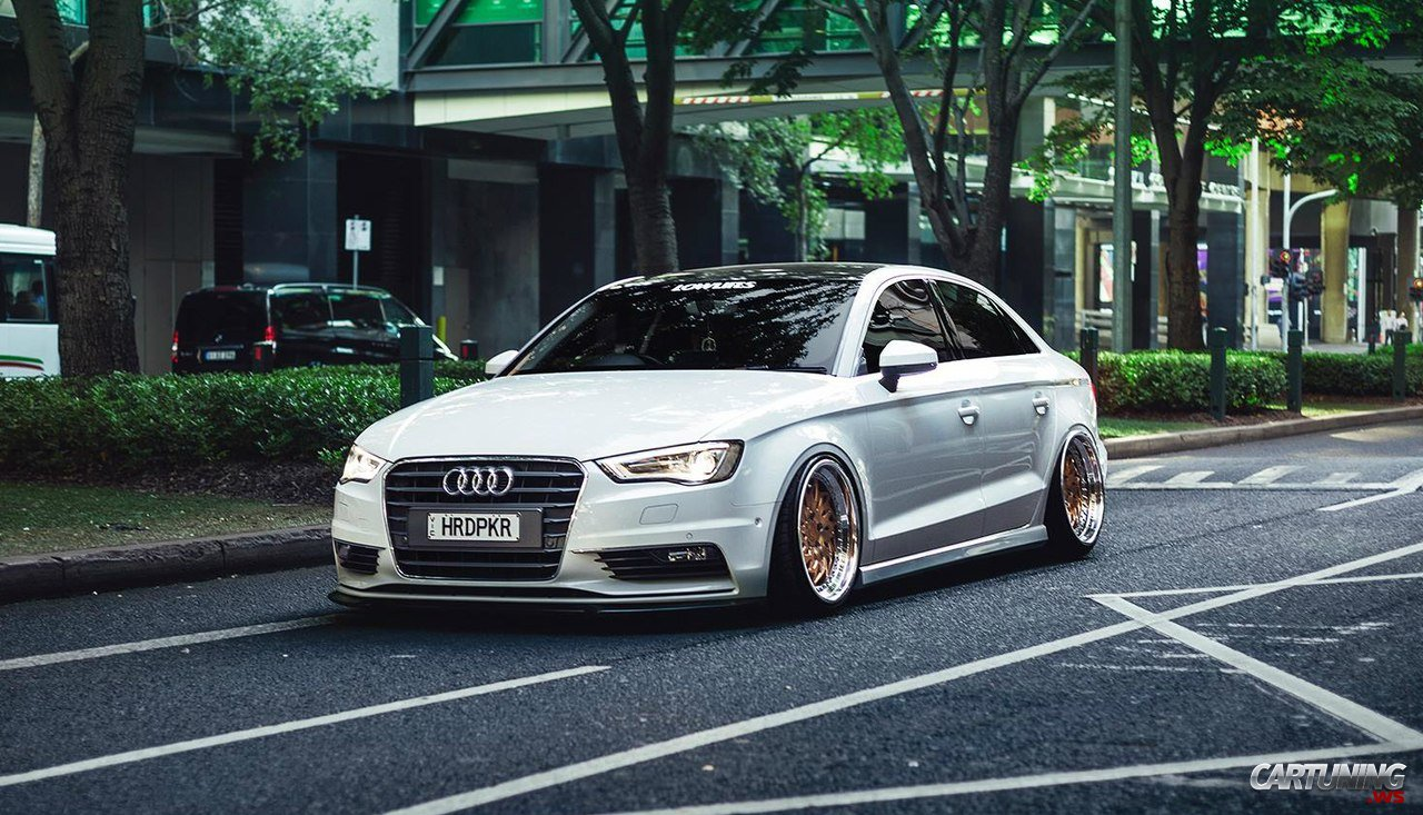 stanced audi a3 sedan. Black Bedroom Furniture Sets. Home Design Ideas