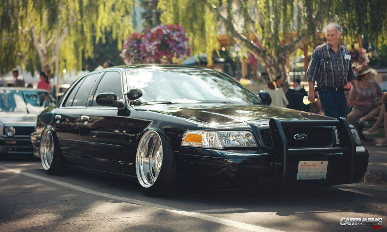 Stanced Ford Crown Victoria