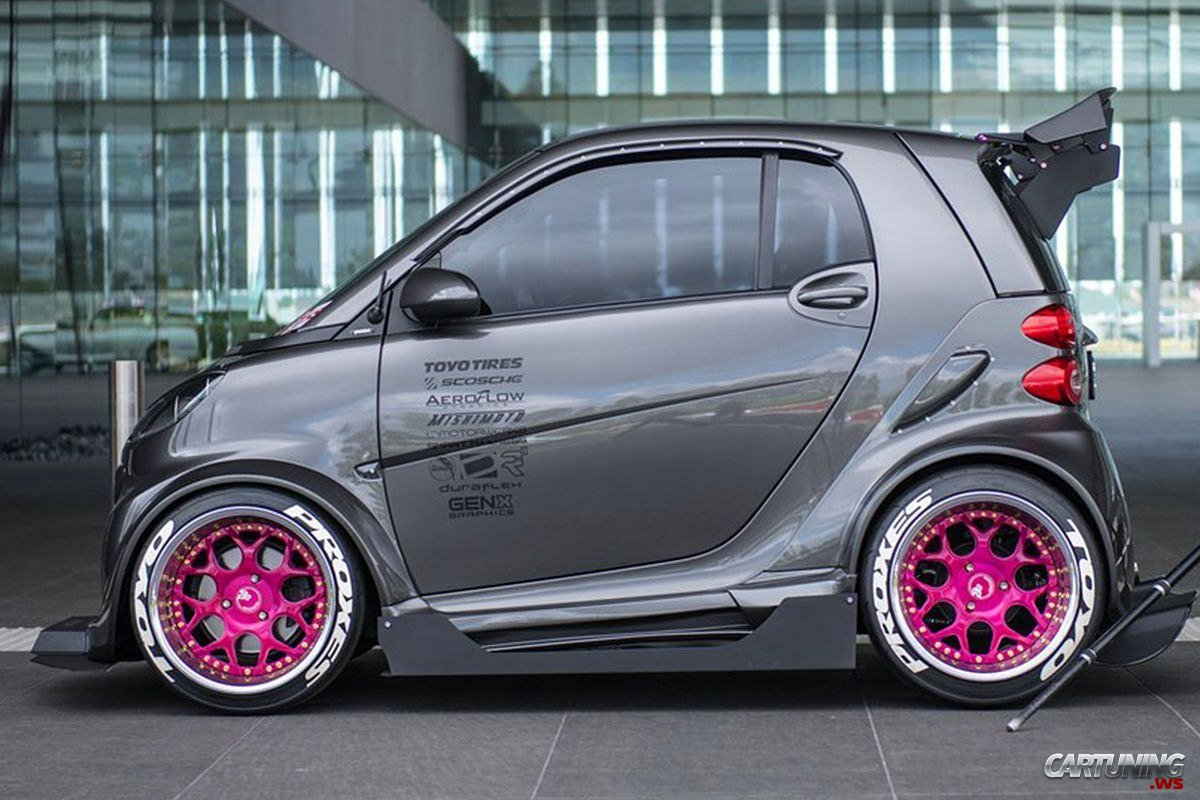 Stanced Smart 187 Cartuning Best Car Tuning Photos From