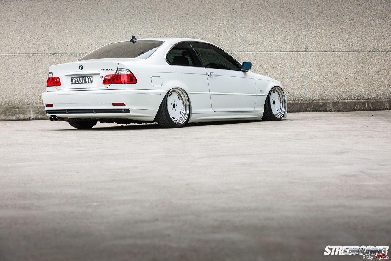 stanced bmw 330ci e46 rear. Black Bedroom Furniture Sets. Home Design Ideas