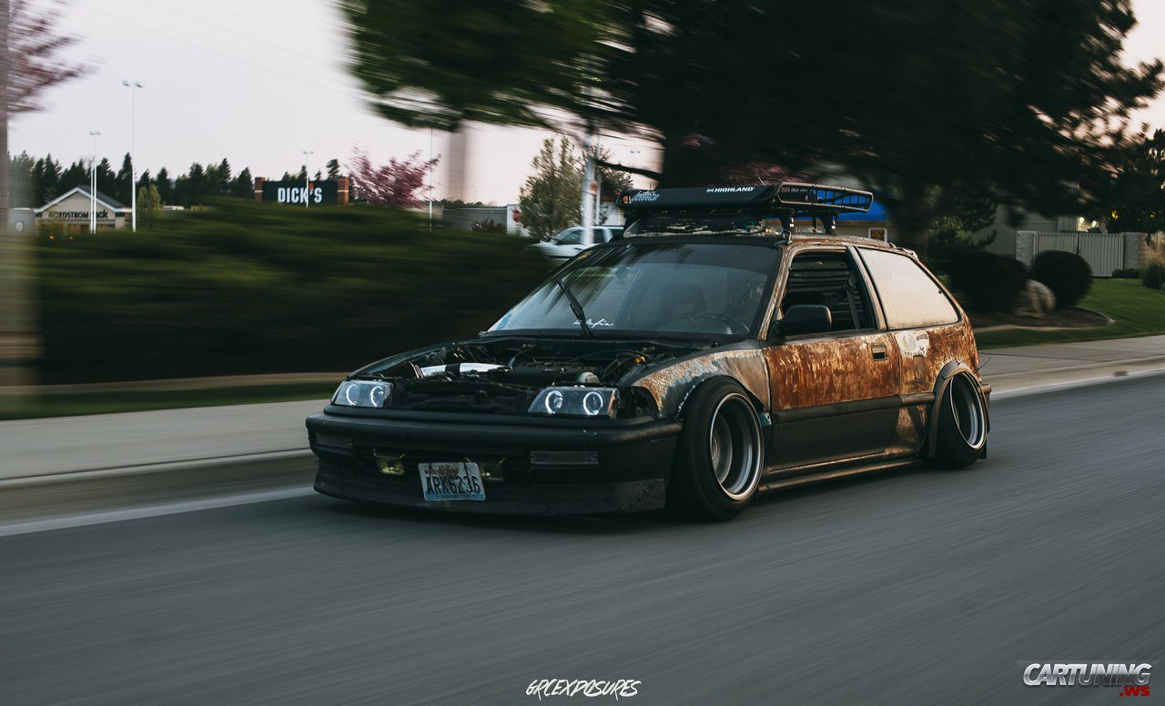 Stanced Honda Civic Ed