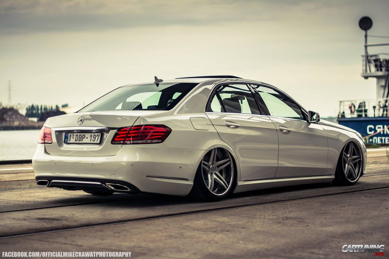 Stanced Mercedes Benz E Class W212 187 Cartuning Best Car Tuning Photos From All The World