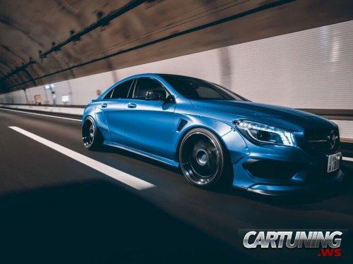 Stanced Mercedes-Benz CLA