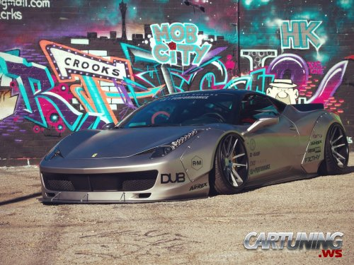 Stanced Ferrari 458 Italia