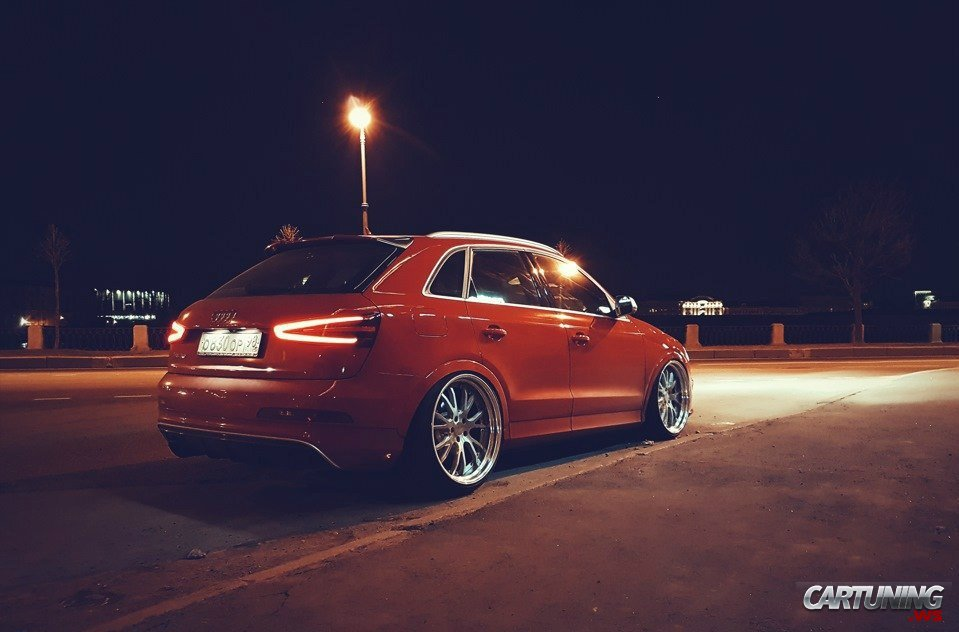 stance audi q3 cartuning best car tuning photos from. Black Bedroom Furniture Sets. Home Design Ideas