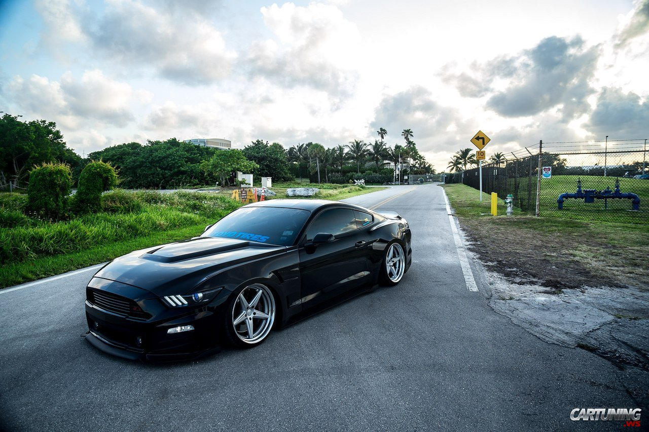 2015 Mustang Wheels >> Stanced Ford Mustang