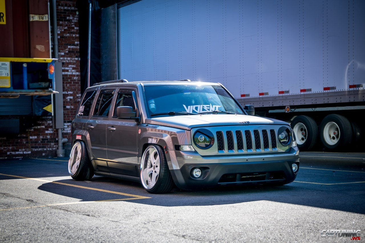 Stanced Jeep Patriot 187 Cartuning Best Car Tuning Photos