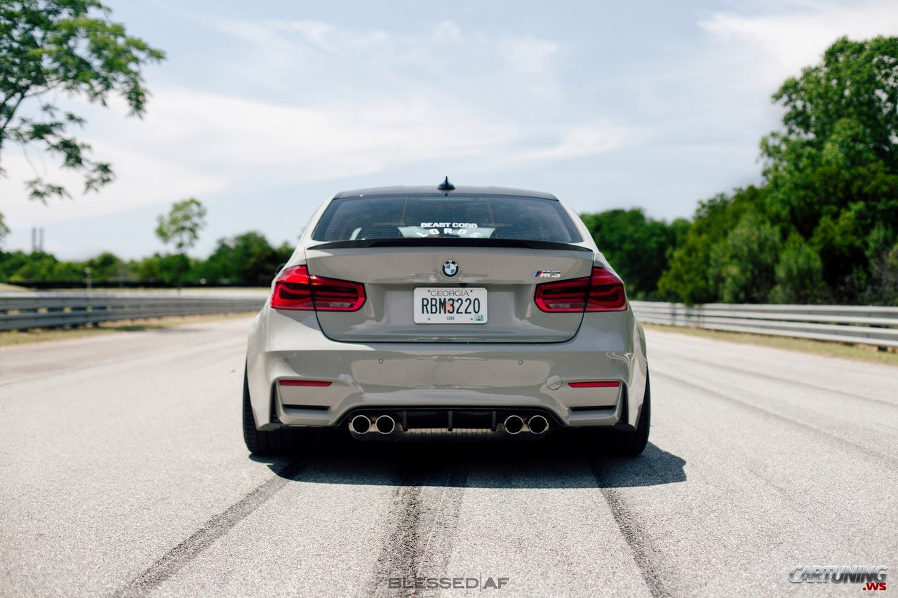 Stance Bmw M3 F30 Rear View