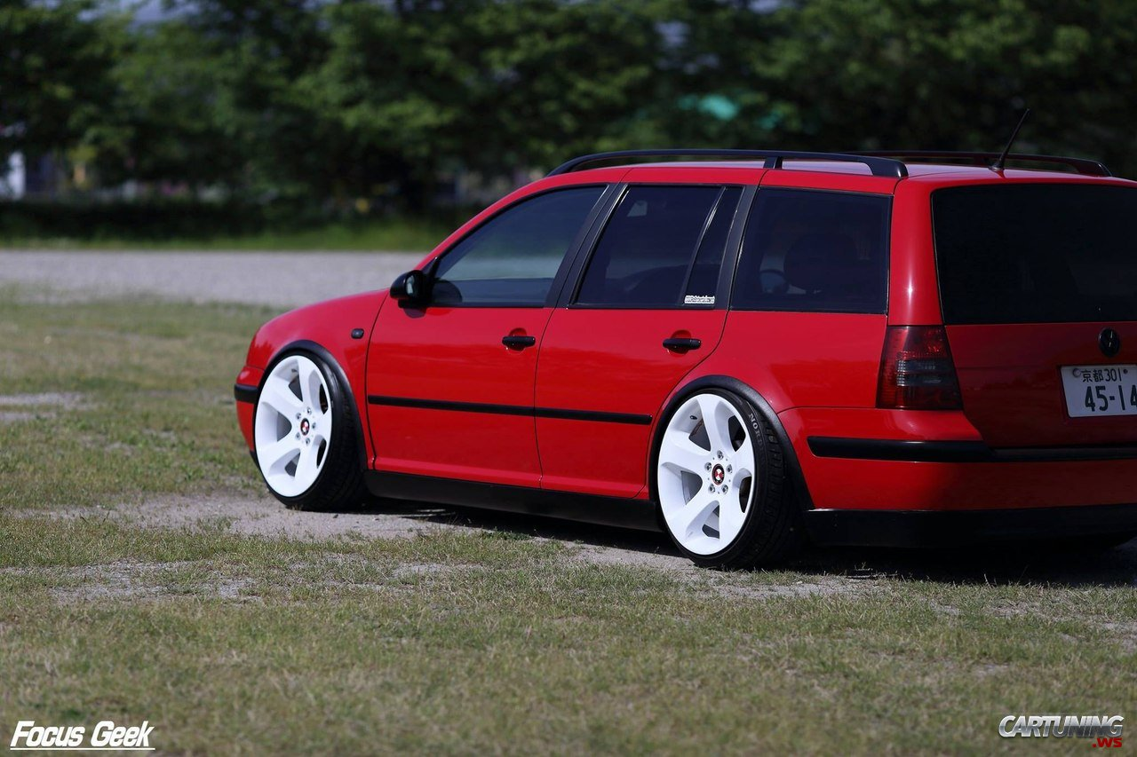 stanced volkswagen golf variant mk4 cartuning best car tuning photos from all the world. Black Bedroom Furniture Sets. Home Design Ideas