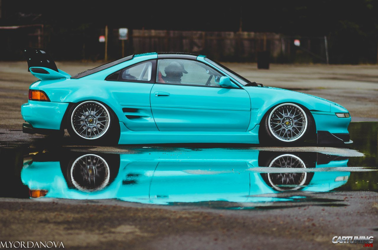 Stanced Toyota Mr2 Side