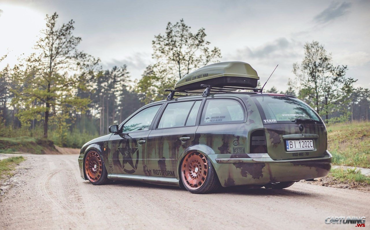 Stanced Skoda Octavia Combi A4 187 Cartuning Best Car