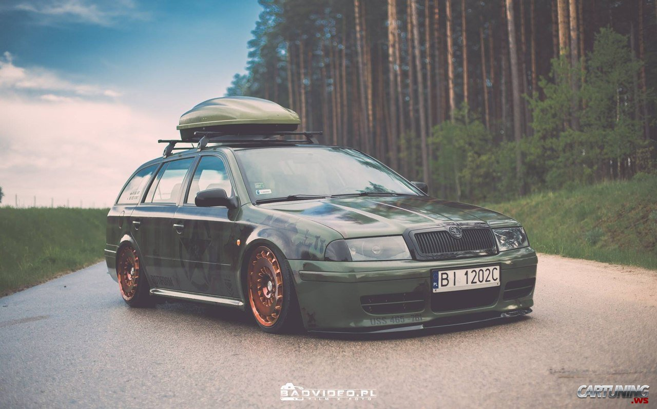 stanced skoda octavia combi a4. Black Bedroom Furniture Sets. Home Design Ideas