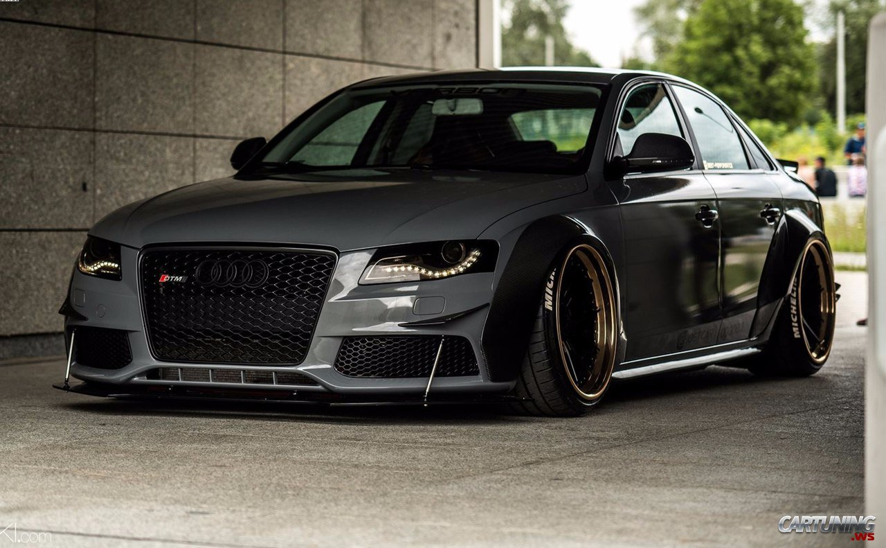 Stanced Audi A4 Dtm B8 187 Cartuning Best Car Tuning