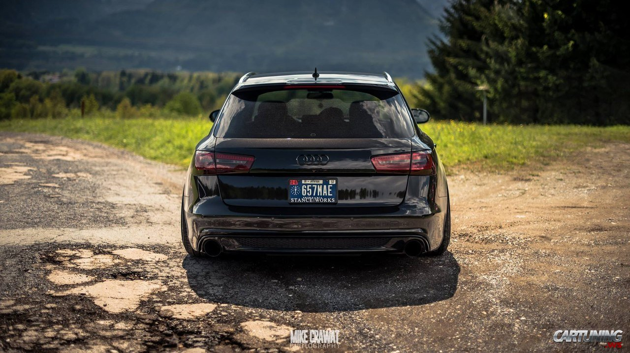stanced audi a6 avant c7 rear. Black Bedroom Furniture Sets. Home Design Ideas