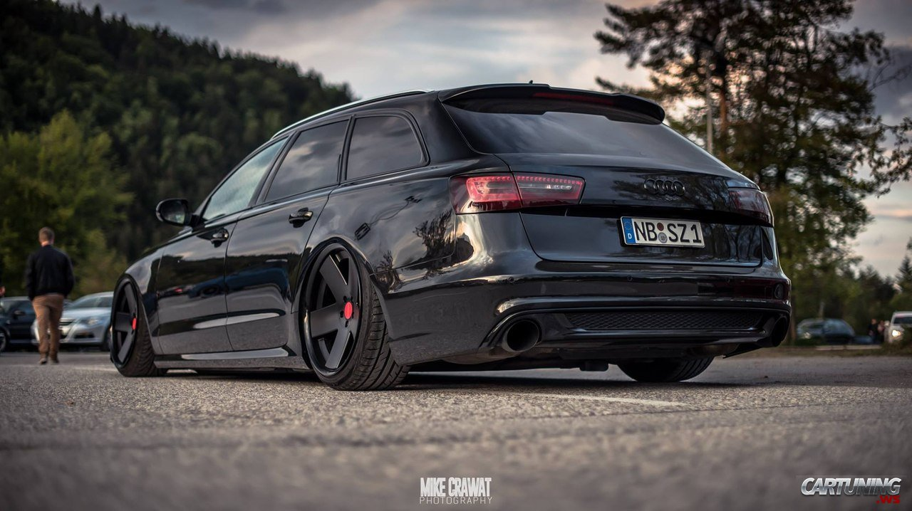 Stanced Audi A6 Avant C7 187 Cartuning Best Car Tuning