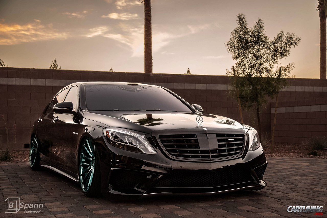 Stanced Mercedes Benz S63 Amg W222 Front