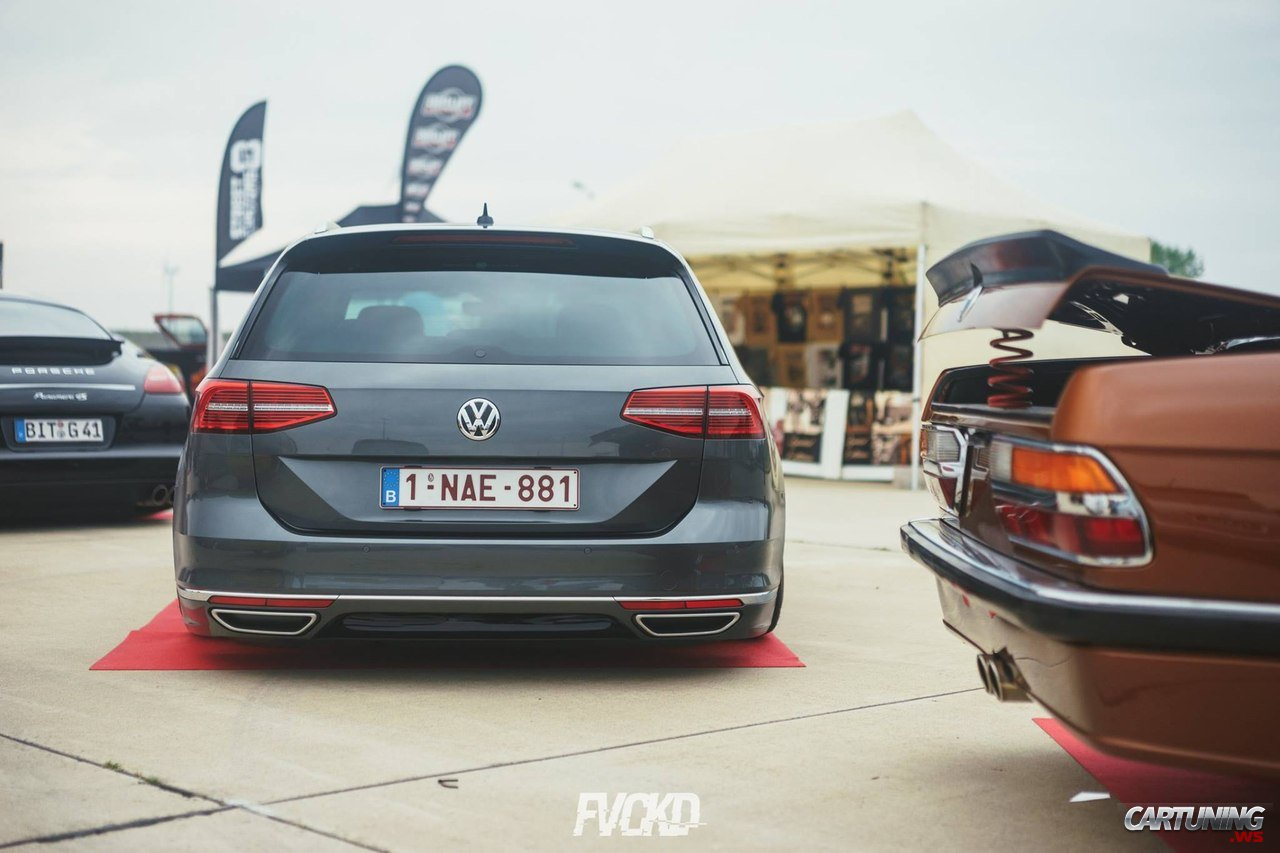 stanced volkswagen passat variant b8 rear. Black Bedroom Furniture Sets. Home Design Ideas