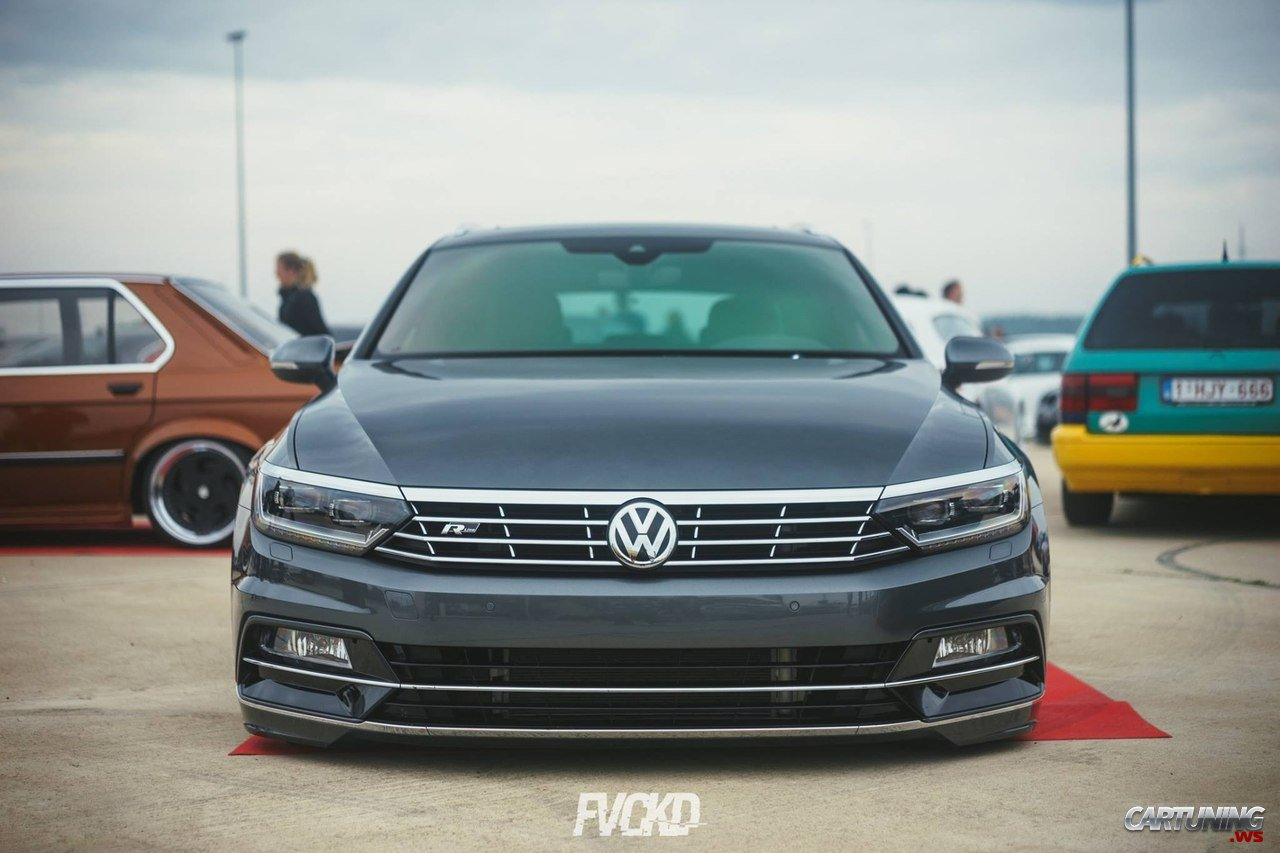 stanced volkswagen passat variant b8 front. Black Bedroom Furniture Sets. Home Design Ideas