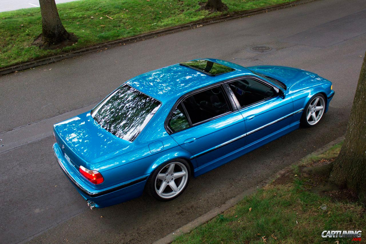 Tuning BMW 740i E38 side
