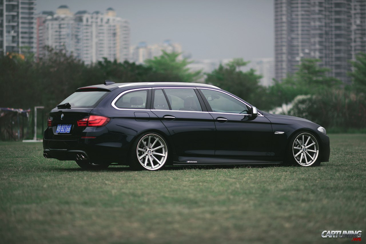 Stanced BMW 530i Touring F11 » CarTuning - Best Car Tuning Photos From All The World